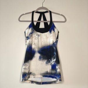 Lululemon Blue White Grey Tie Dye Tank